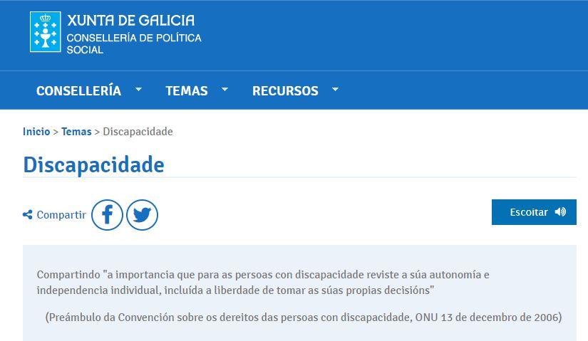 Subvención da Consellería de Política Social da Xunta de Galicia