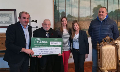 Concello, Deputación de Lugo e a Fundación Pazos e Feiras destinan a recadación do Equigal a FUDACE pola súa importante labor social